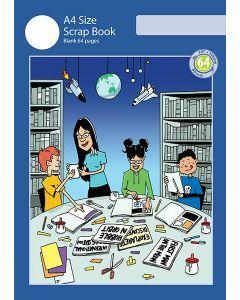 A4 Scrap Book 64pp Blue Cover