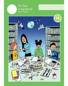 A4 Scrap Book 64pp Green Cover
