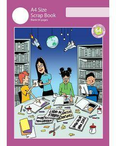 A4 Scrap Book 64pp Purple Cover