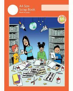 A4 Scrap Book 64pp Red Cover