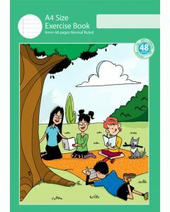 A4 Exercise Book 6mm Normal Ruled 48pp