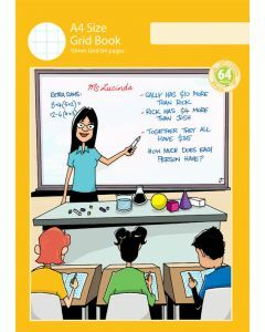 A4 Grid Book 10mm Grid 64pp