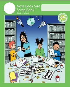 Notebook Size Scrap Book 64pp Green Cover