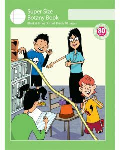 Super Size Botany Book 8mm Dotted Thirds 80pp