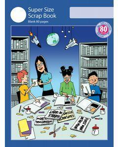 Super Size Scrap Book 80pp Blue Cover