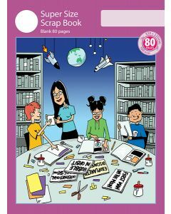 Super Size Scrap Book 80pp Purple Cover