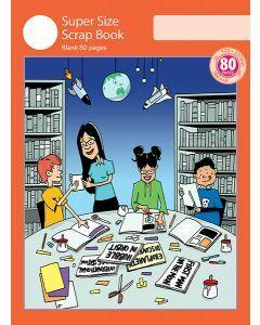 Super Size Scrap Book 80pp Red Cover