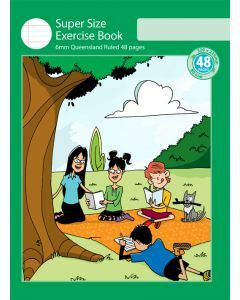 Super Size Exercise Book 6mm Queensland Ruled 48pp