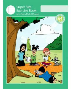 Super Size Exercise Book 6mm Normal Ruled 64pp