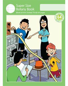 Super Size Botany Book 8mm Dotted Thirds 64pp