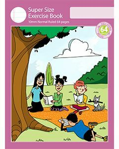 Super Size Exercise Book 10mm Normal Ruled 64pp
