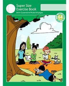 Super Size Exercise Book 6mm Queensland Ruled 64pp