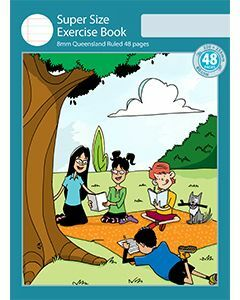 Super Size Exercise Book 8mm Queensland Ruled 48pp