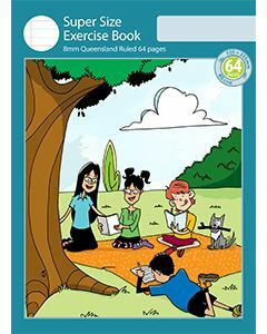 Super Size Exercise Book 8mm Queensland Ruled 64pp