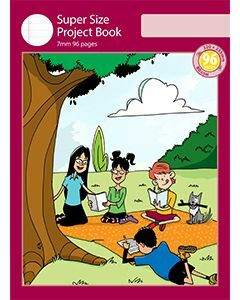 Super Size Project Book 7mm Ruled with Outline Frame 96pp