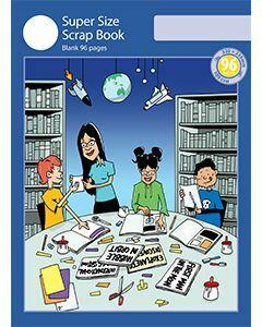 Super Size Scrap Book 96pp Blue Cover