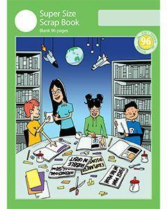 Super Size Scrap Book 96pp Green Cover