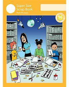 Super Size Scrap Book 96pp Yellow Cover