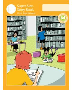 Super Size Story Book 14mm Ruled with Outline Frame 64pp